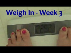 Thumbnail image for Week Three Weigh In – Hubby is a LOSER!!