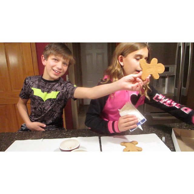 Video is up...kids decorating some crazy looking gingerbread men! ???