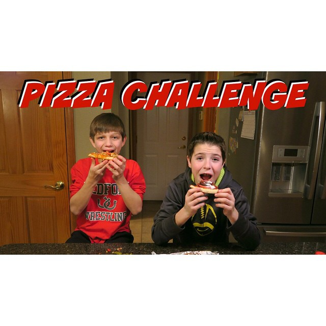Watch Chase @lilman1818 and his buddy Joey @j_nags2211 do the Pizza Challenge! ??
