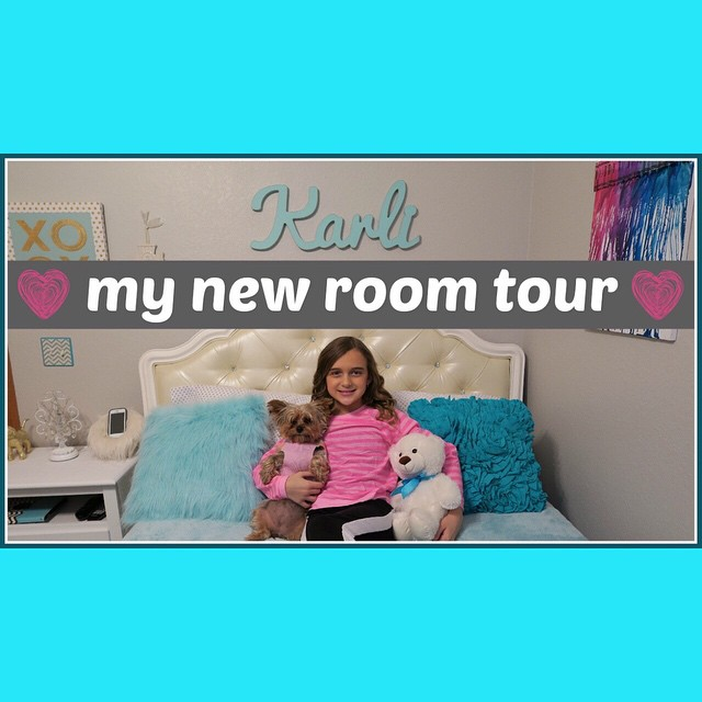 I'm so bad at remembering to share videos here! We posted Karli's room tomorrow yesterday! Don't miss it ?
