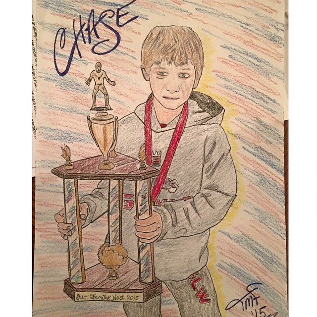 Amazing drawing Chase got from a fan! So cool! ✏️?