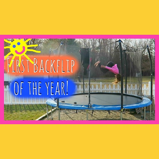 First backflip of the year! Watch today's video!!