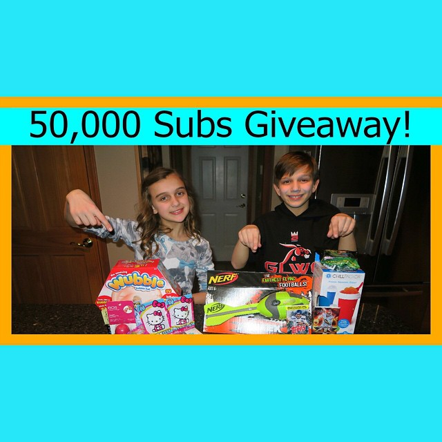 Go check out today's giveaway! Plus an exciting announcement for when we reach 100,000 subscribers!!