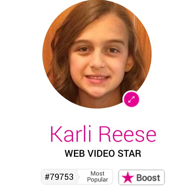 Karli is an official celebrity! She made it into the Famous Birthdays webpage http://famousbirthdays.com ???