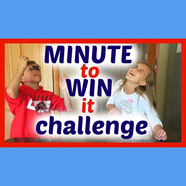 Karli and Chase did the Minute to Win it Challenge! Loser gets whip cream in the face!!! ???