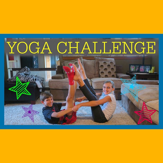 Yoga Challenge on our channel today!