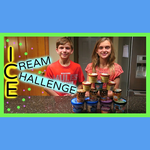 We did the Ice Cream Challenge...just made up a version where you guess the flavor! We tagged @officialkittiesmamayt @emmaandellie_ and @jacyandkacy to do the challenge too. Our viewers are the best...they have been leaving them comments all day. Kittiesmama & Emma and Ellie said they would do it. Hope Jacy and Kacy do it too!! ?