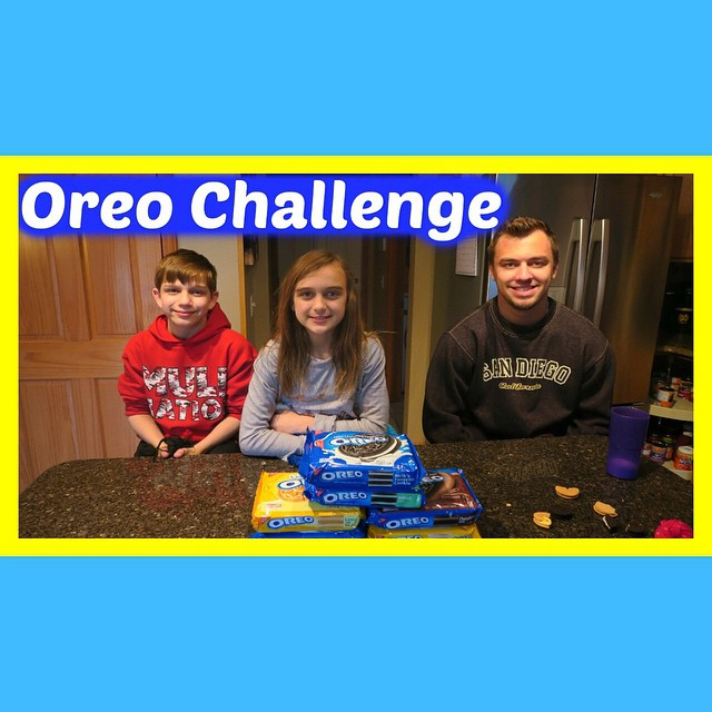 Challenge video is up...The OREO CHALLENGE!!